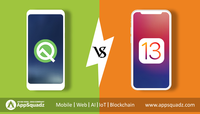 Android Q vs. iOS 13